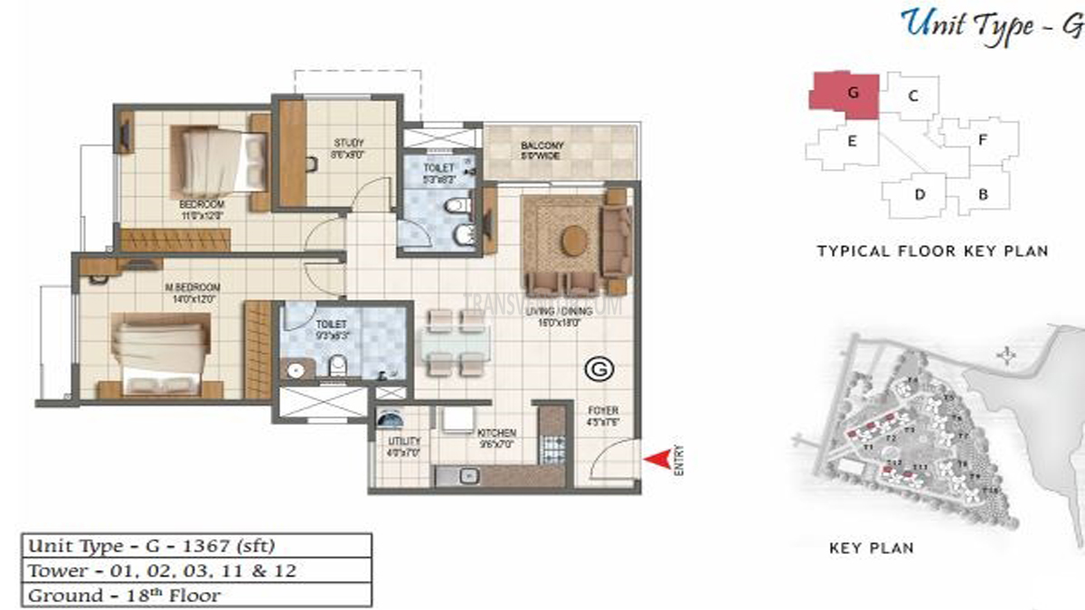 Prestige Lake Ridge Floor Plan 2