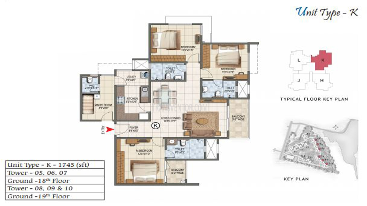 Prestige Lake Ridge Floor Plan 1