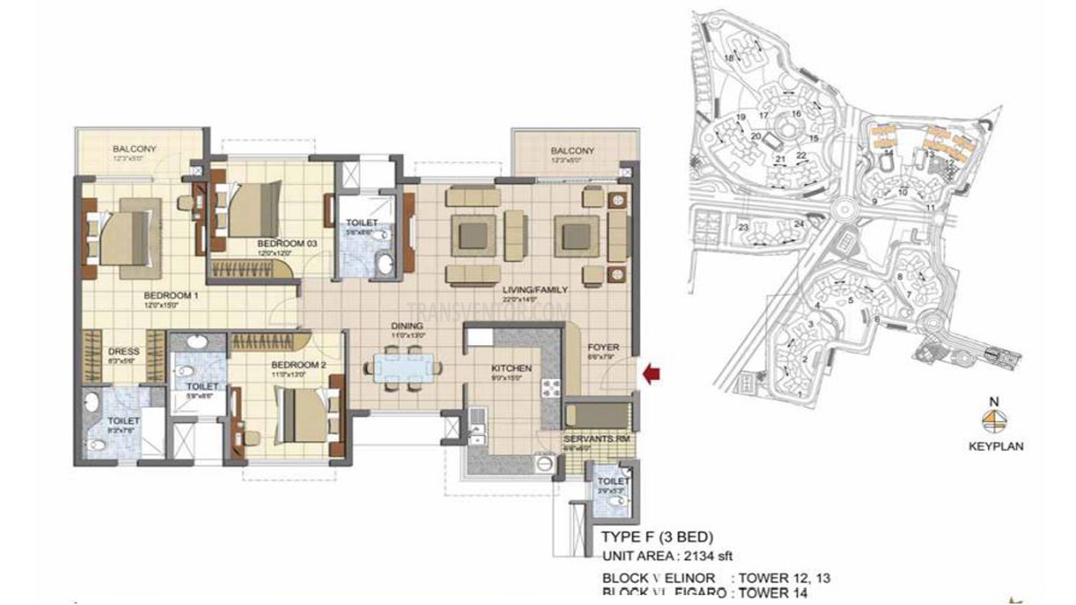 Prestige Lakeside Habitat Floor Plan 2