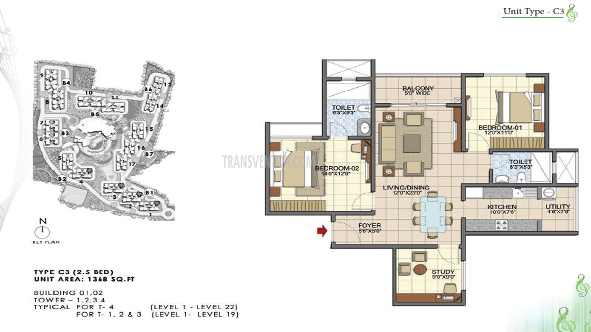 Prestige Song Of South Floor Plan 2