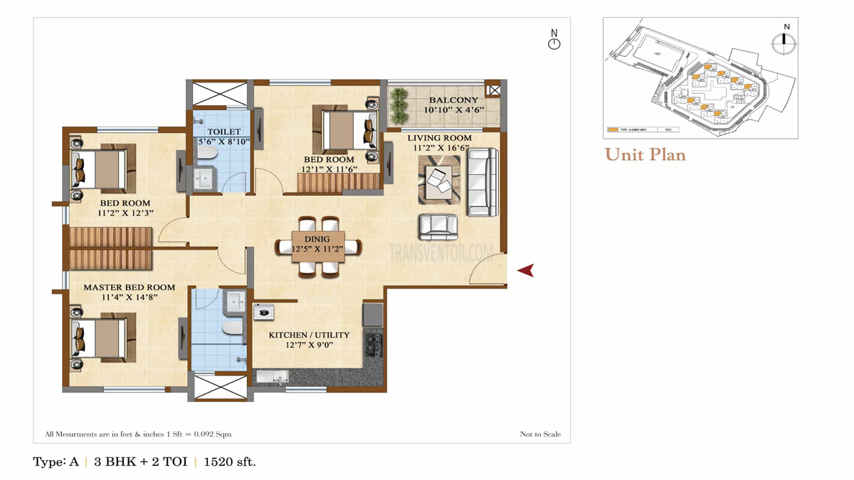 Salarpuria Sattva Divinity Floor Plan 4