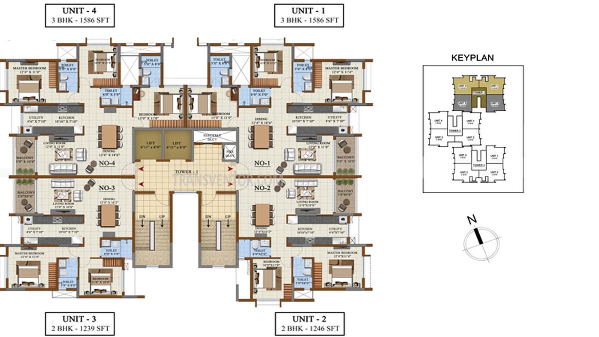 Salarpuria Sattva Opus Floor Plan 2