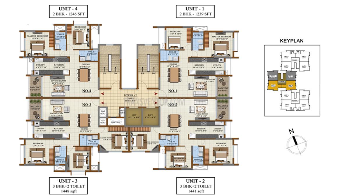 Salarpuria Sattva Opus Floor Plan 3