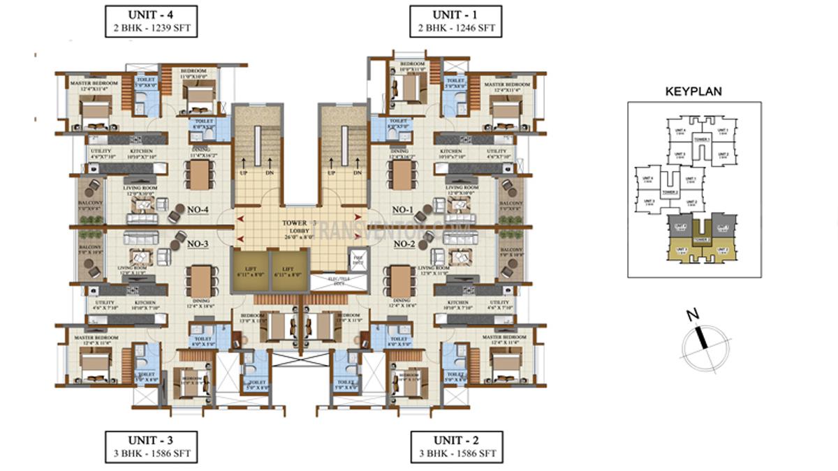 Salarpuria Sattva Opus Floor Plan 4