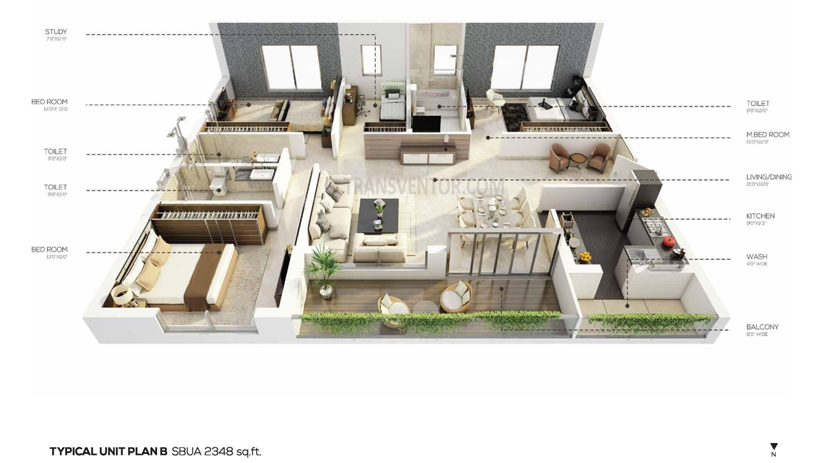 Salarpuria the Avenue Floor Plan 2