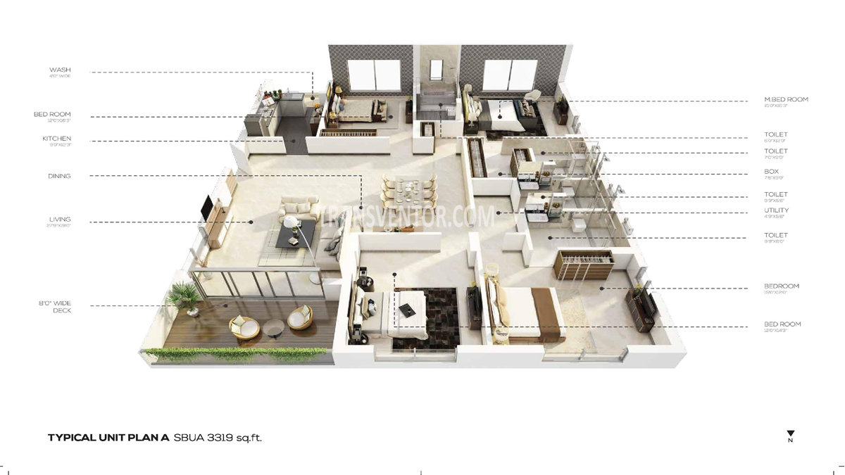 Salarpuria the Avenue Floor Plan 3