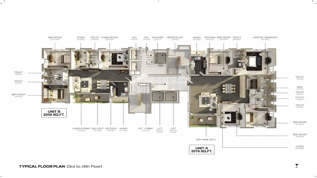 Salarpuria the Avenue Floor Plan 4
