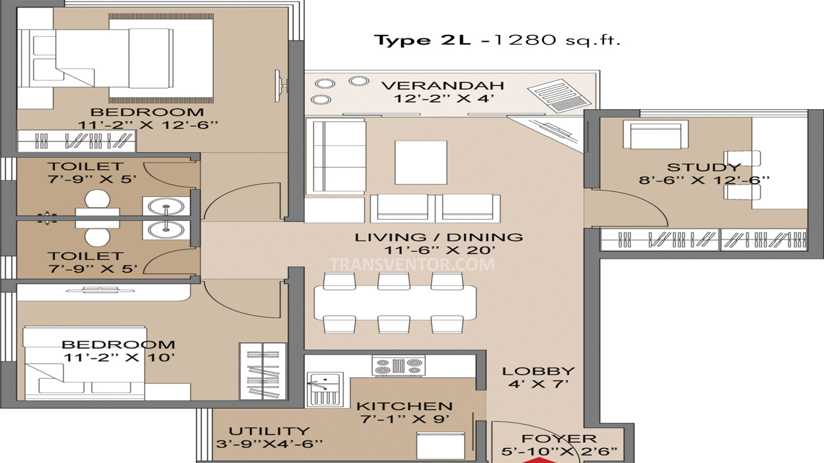 Salarpuria Silver Oak Estate Floor Plan 1