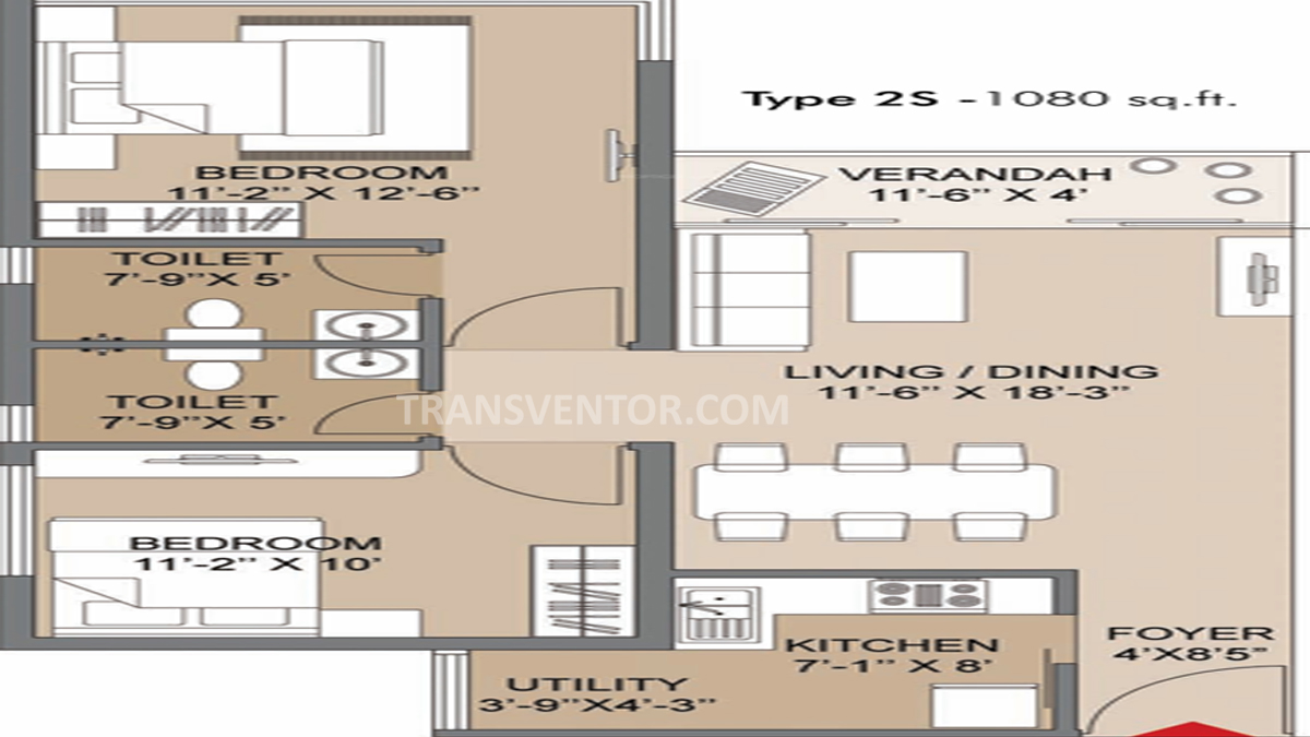 Salarpuria Silver Oak Estate Floor Plan 2