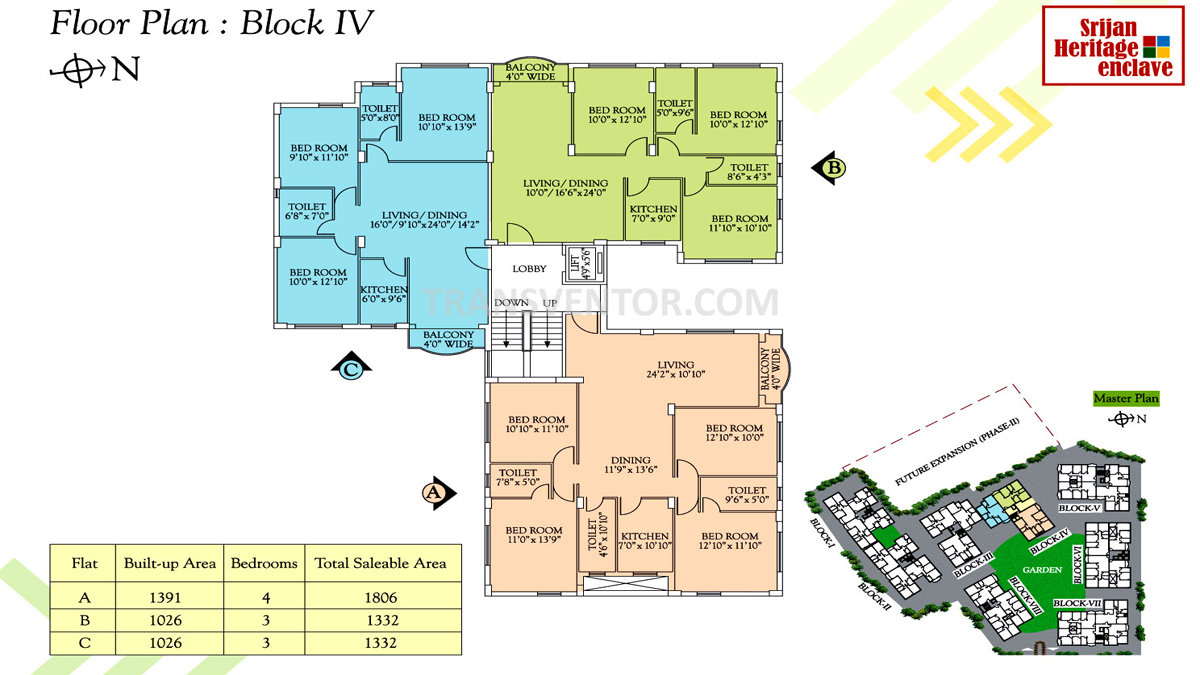 Srijan Heritage Enclave Floor Plan 2