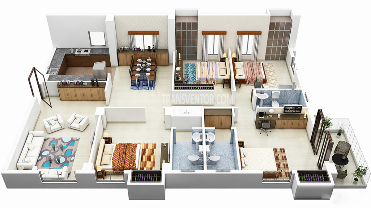 Sugam Habitat Floor Plan 3