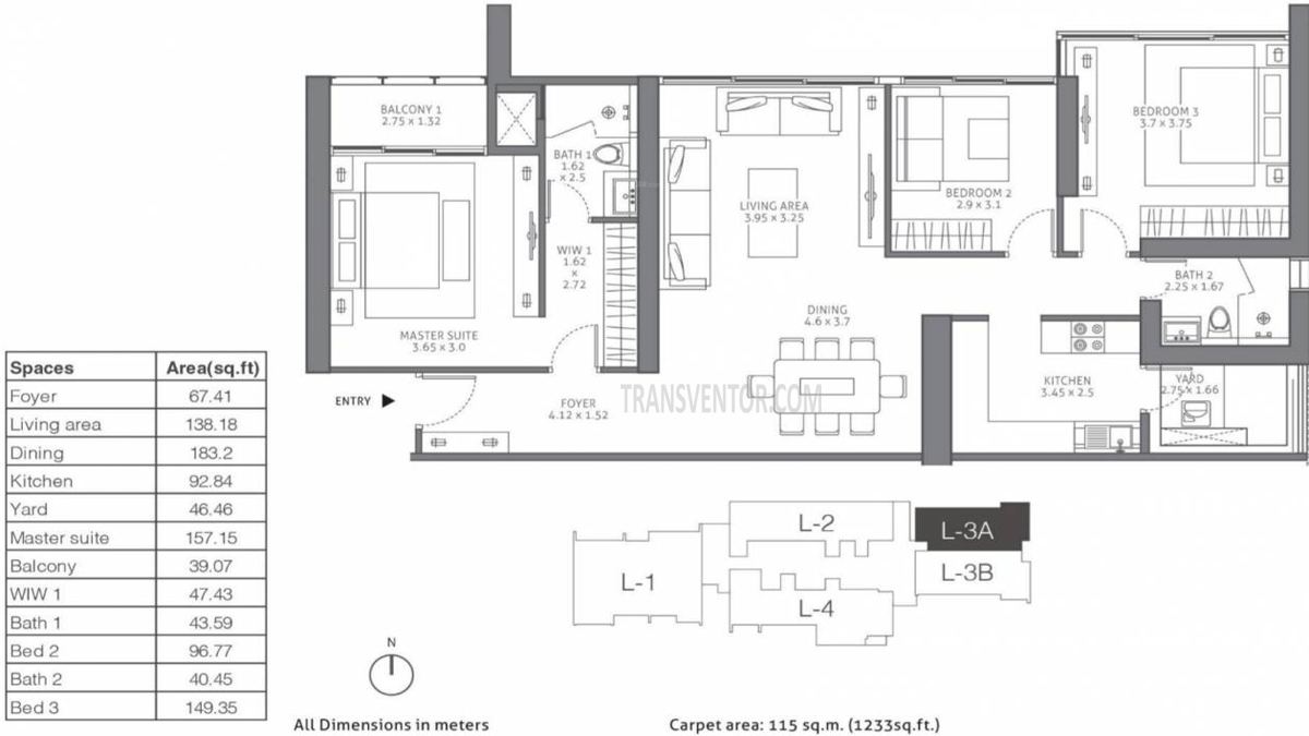 Tata 88 East Floor Plan 1