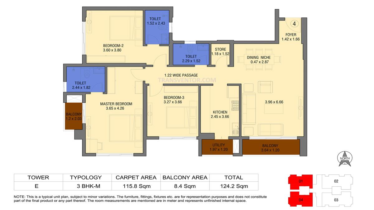 Tata Avenida Floor Plan 7