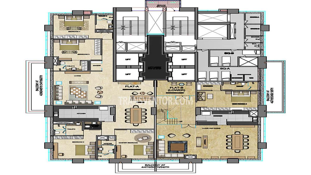 The 42 Floor Plan 1
