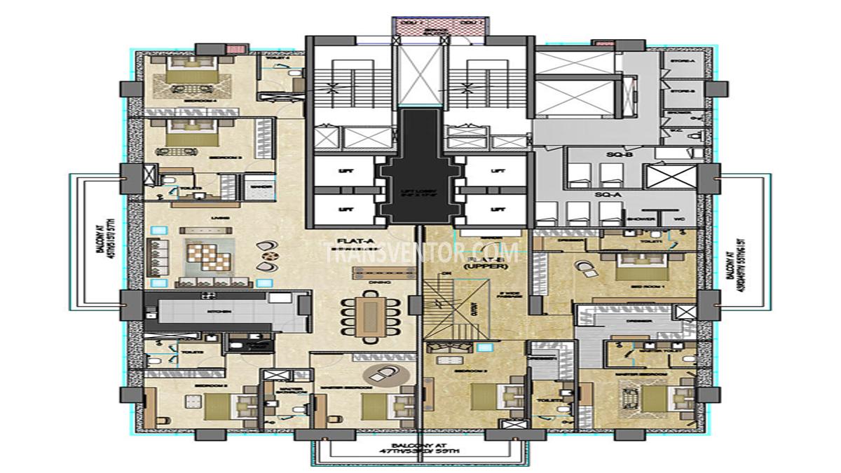 The 42 Floor Plan 2