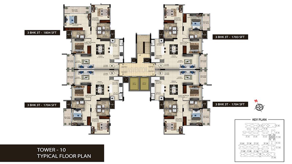 Salarpuria Sattva Anugraha Floor Plan 10