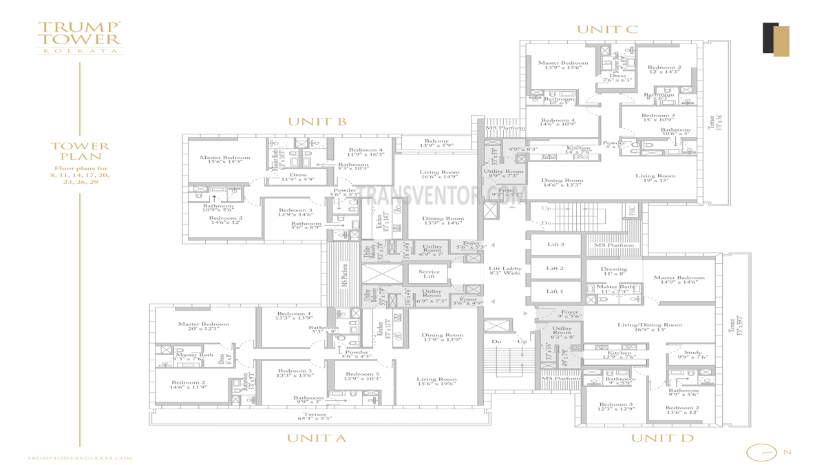 Trump Tower Floor Plan 1