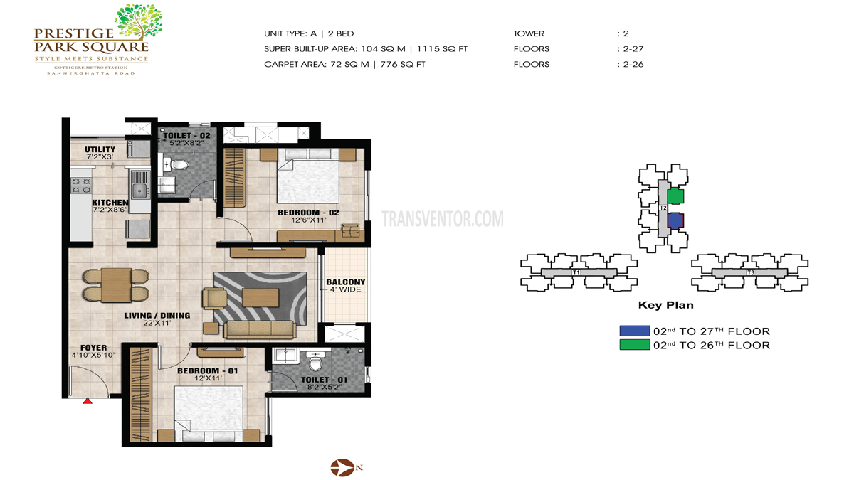 Prestige Park Square Floor Plan 2