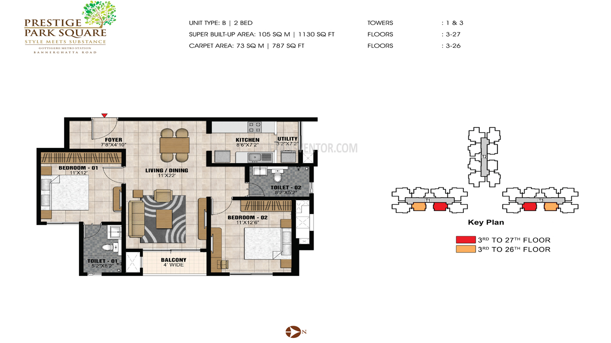 Prestige Park Square Floor Plan 3