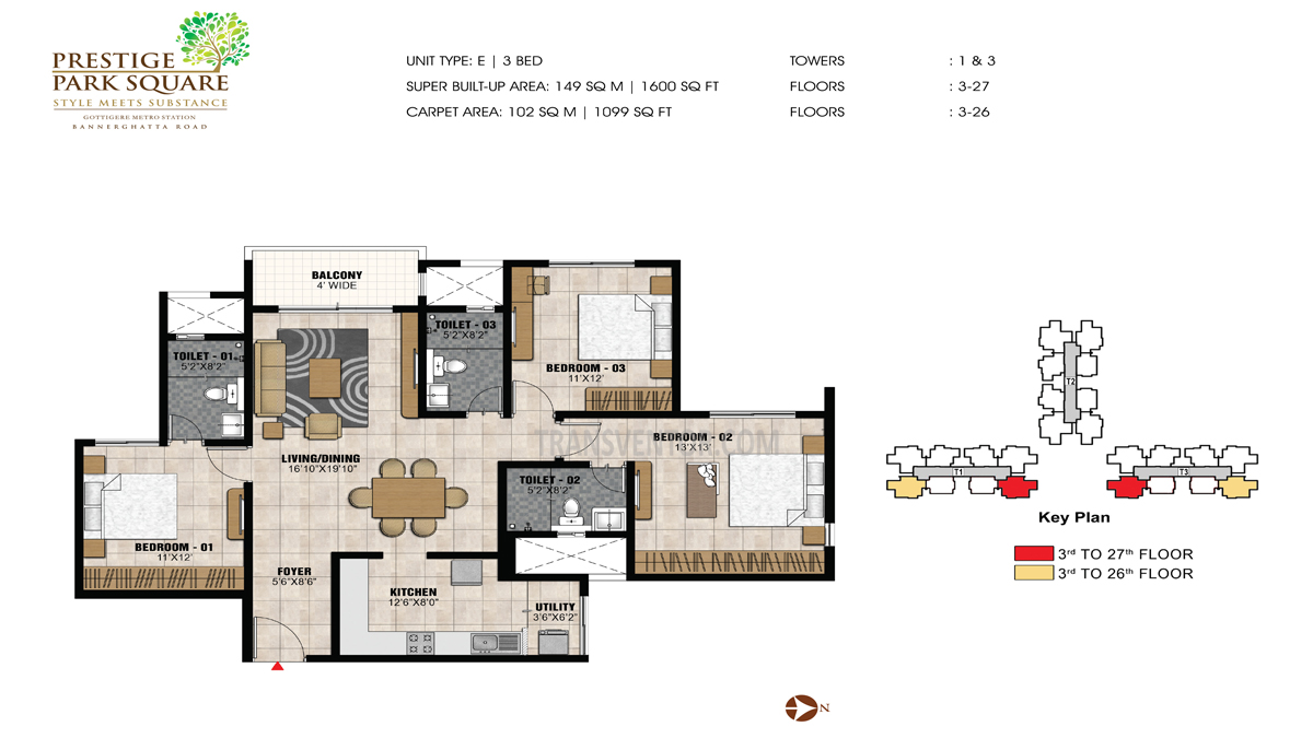 Prestige Park Square Floor Plan 5