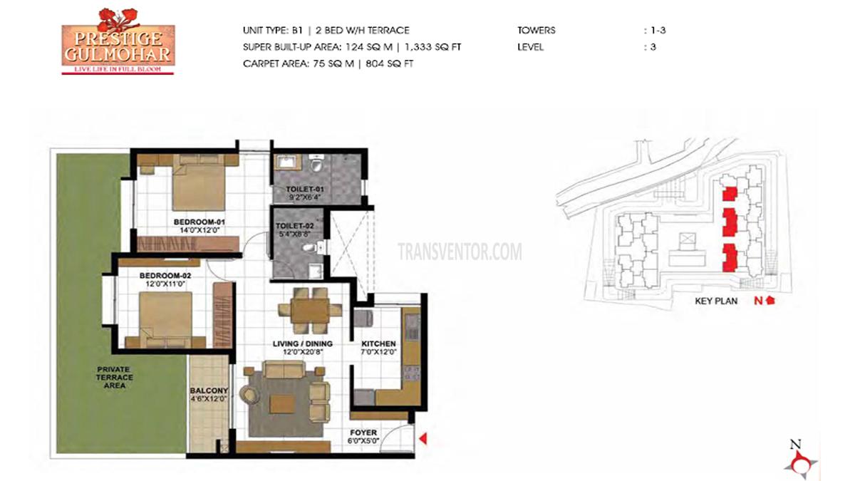 Prestige Gulmohar Floor Plan 10