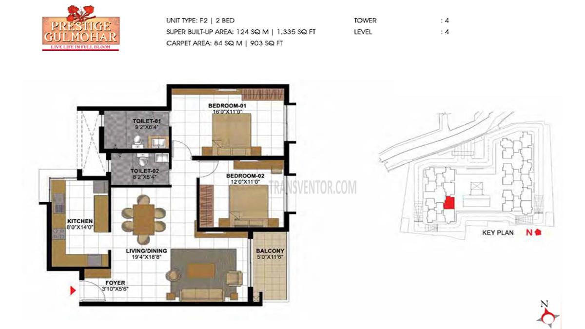 Prestige Gulmohar Floor Plan 11
