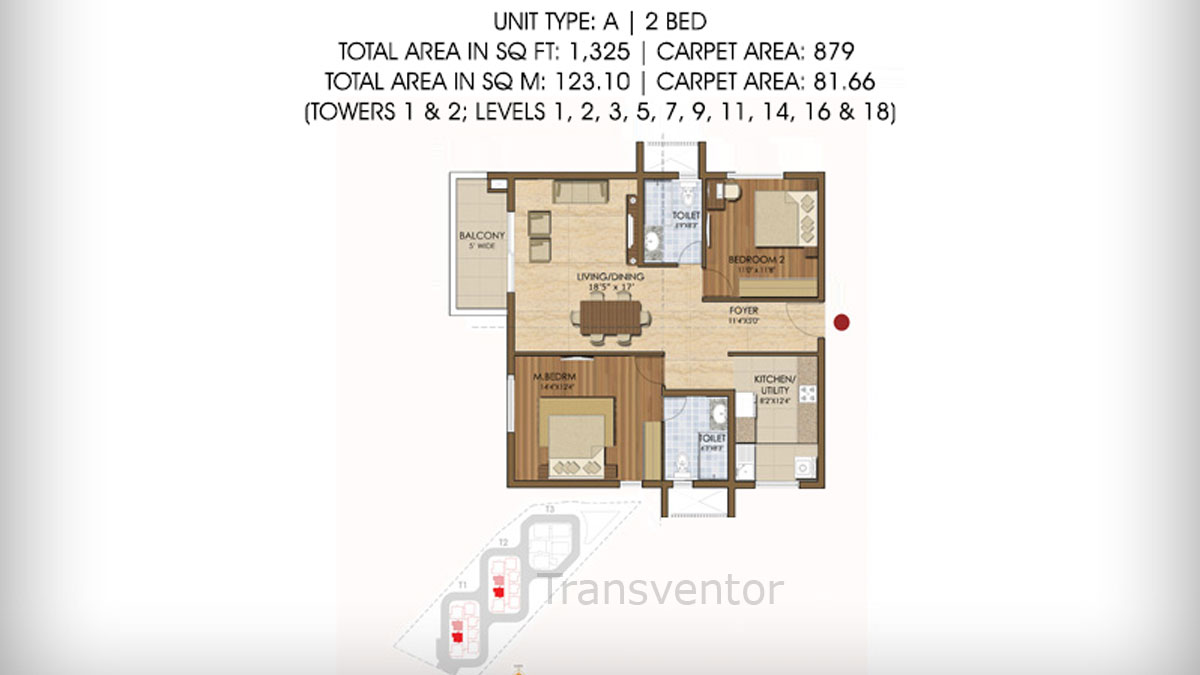 Prestige Ivy League Floor Plan 2