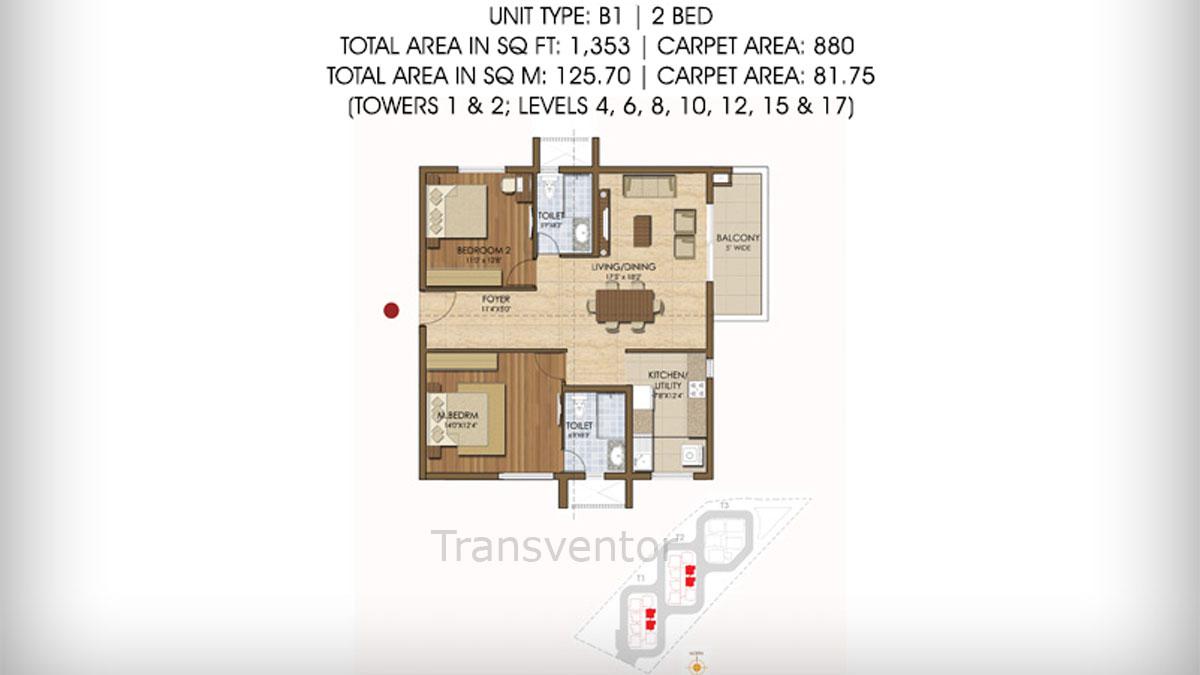 Prestige Ivy League Floor Plan 4