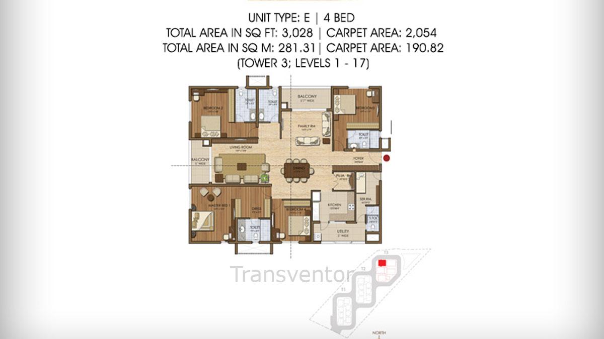 Prestige Ivy League Floor Plan 7