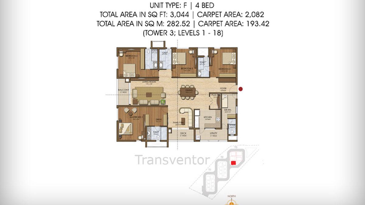 Prestige Ivy League Floor Plan 8