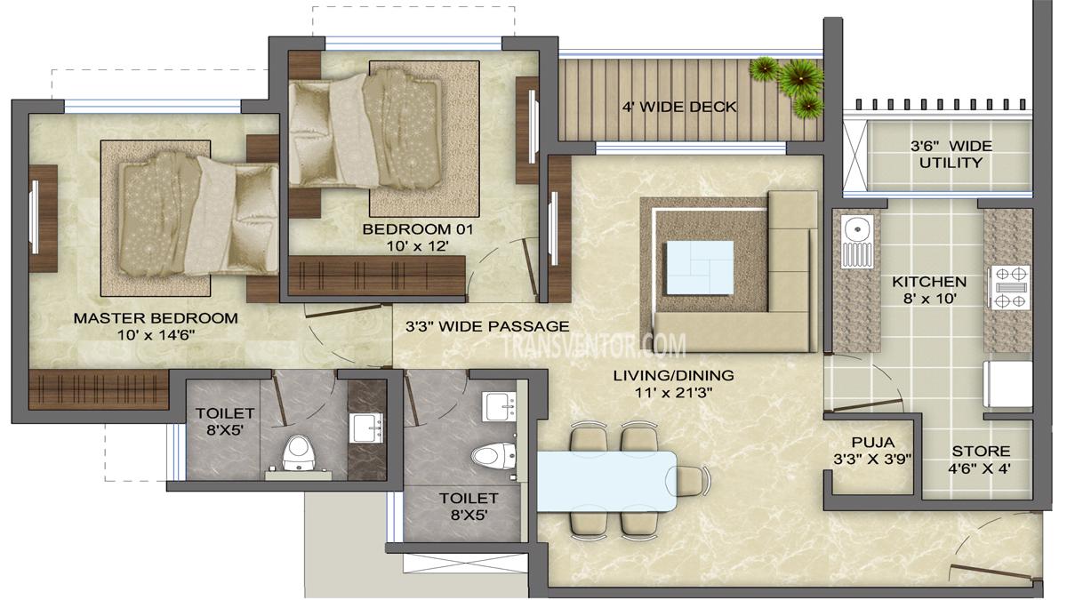 Lodha Eternis Floor Plan 2