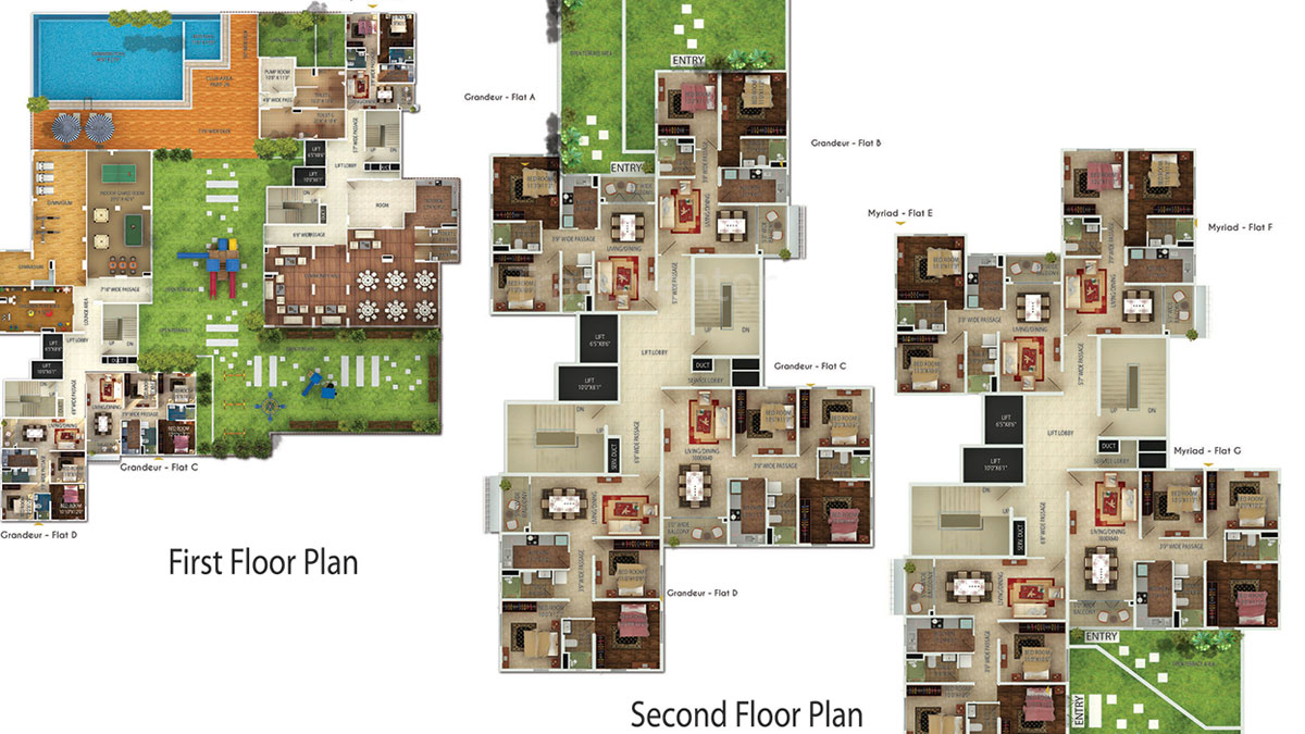 Oswal Orchard 126 Floor Plan 3