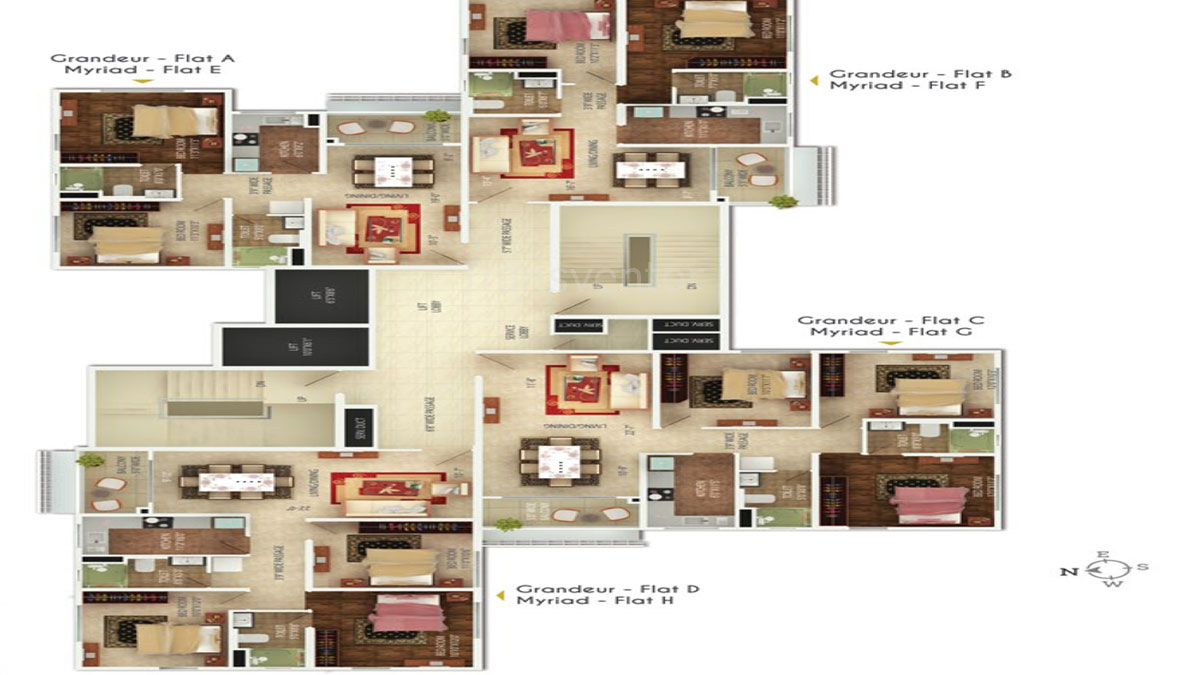 Oswal Orchard 126 Floor Plan 2