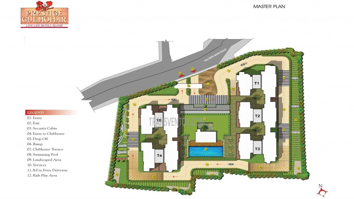 Prestige Gulmohar Floor Plan 1