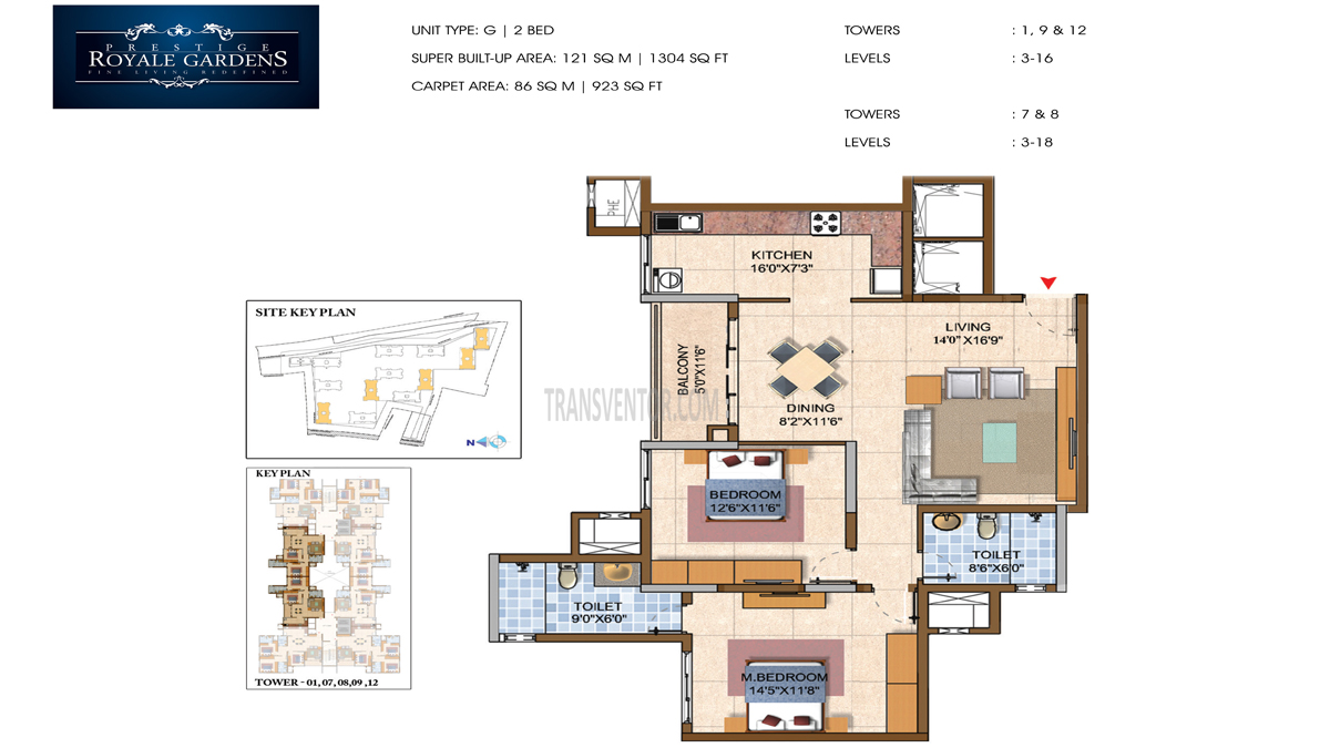 Prestige Royale Gardens Floor Plan 8