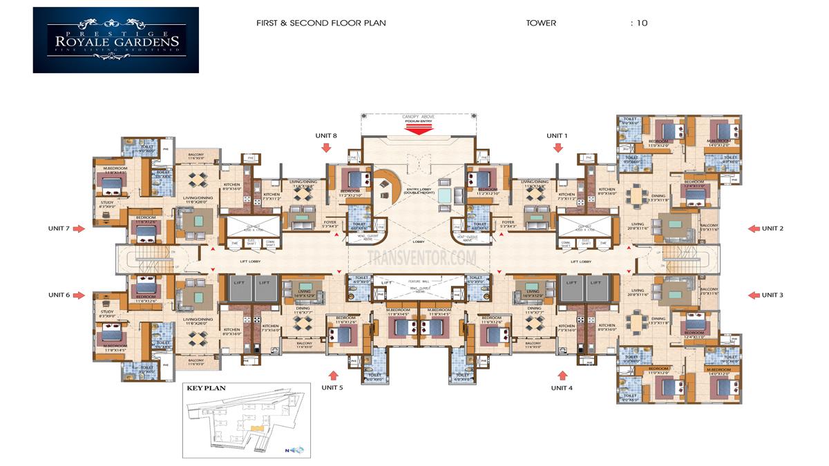 Prestige Royale Gardens Floor Plan 2