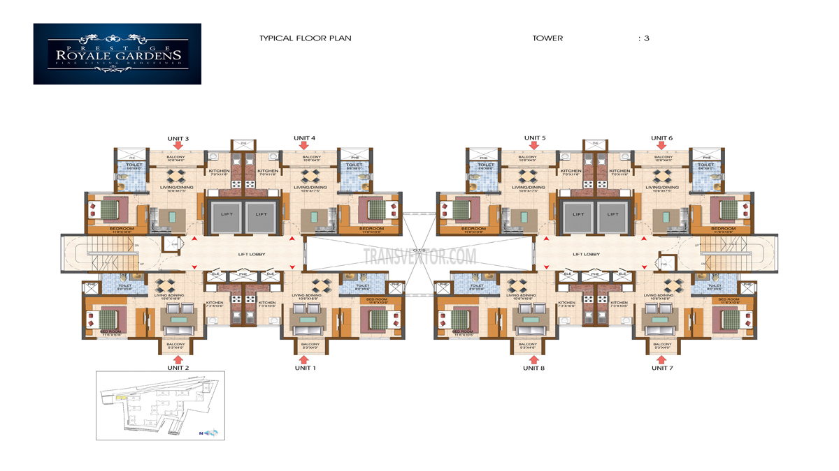 Prestige Royale Gardens Floor Plan 6