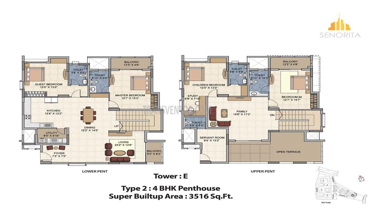 Salarpuria Sattva Senorita Floor Plan 3