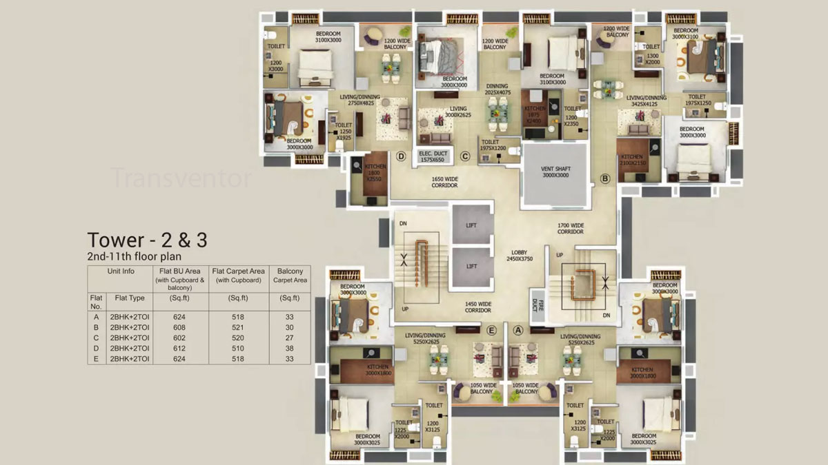 Merlin Gangotri Floor Plan 3