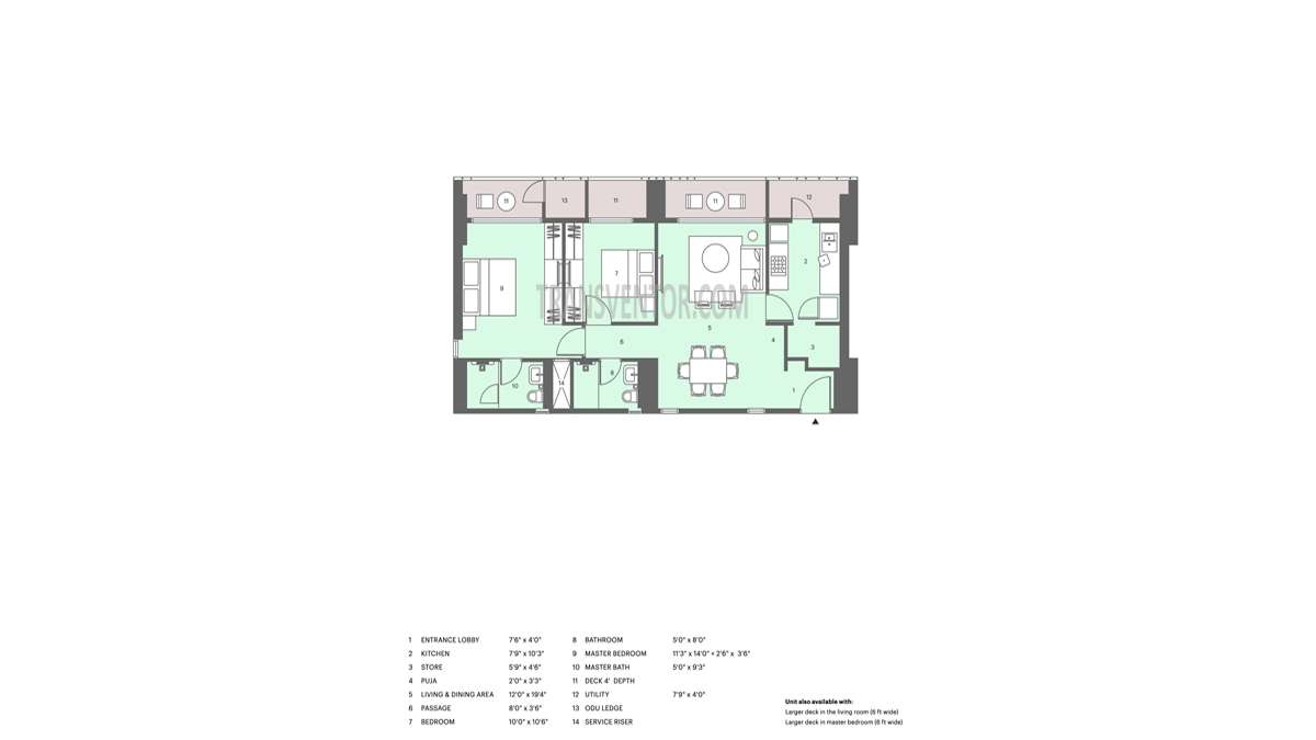 Lodha Altia Floor Plan 3