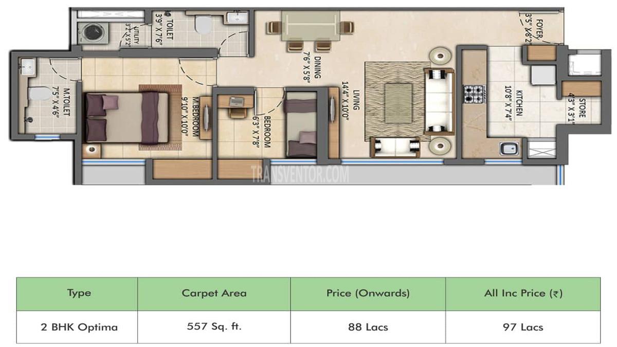 Lodha  Amara Floor Plan 4