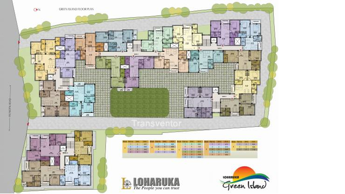 Loharuka Green Island Floor Plan 1