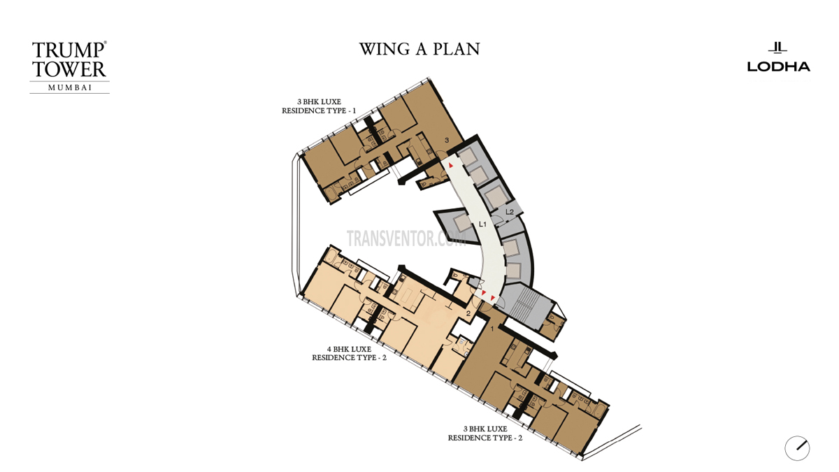 Trump Tower, Mumbai Floor Plan 1