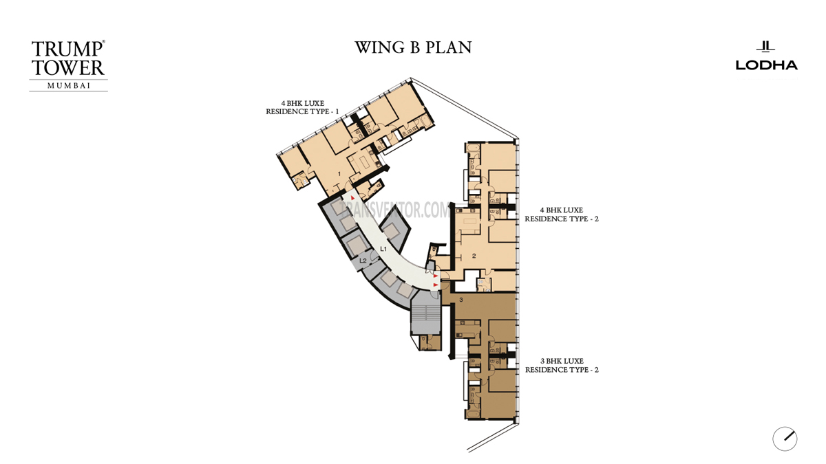 Trump Tower, Mumbai Floor Plan 2