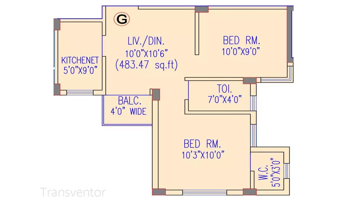 Riya Oxford Square Floor Plan 4