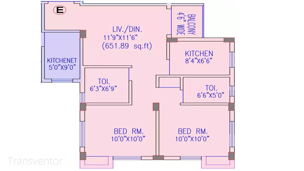 Riya Oxford Square Floor Plan 8