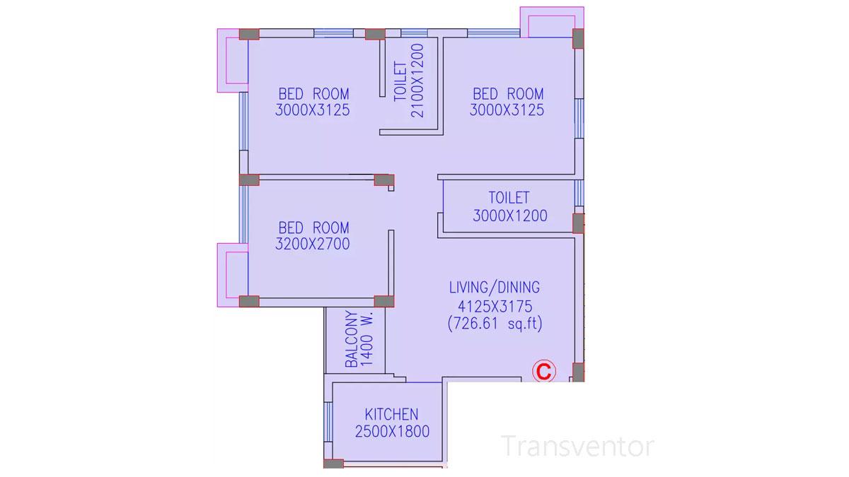 Riya Oxford Square Floor Plan 12