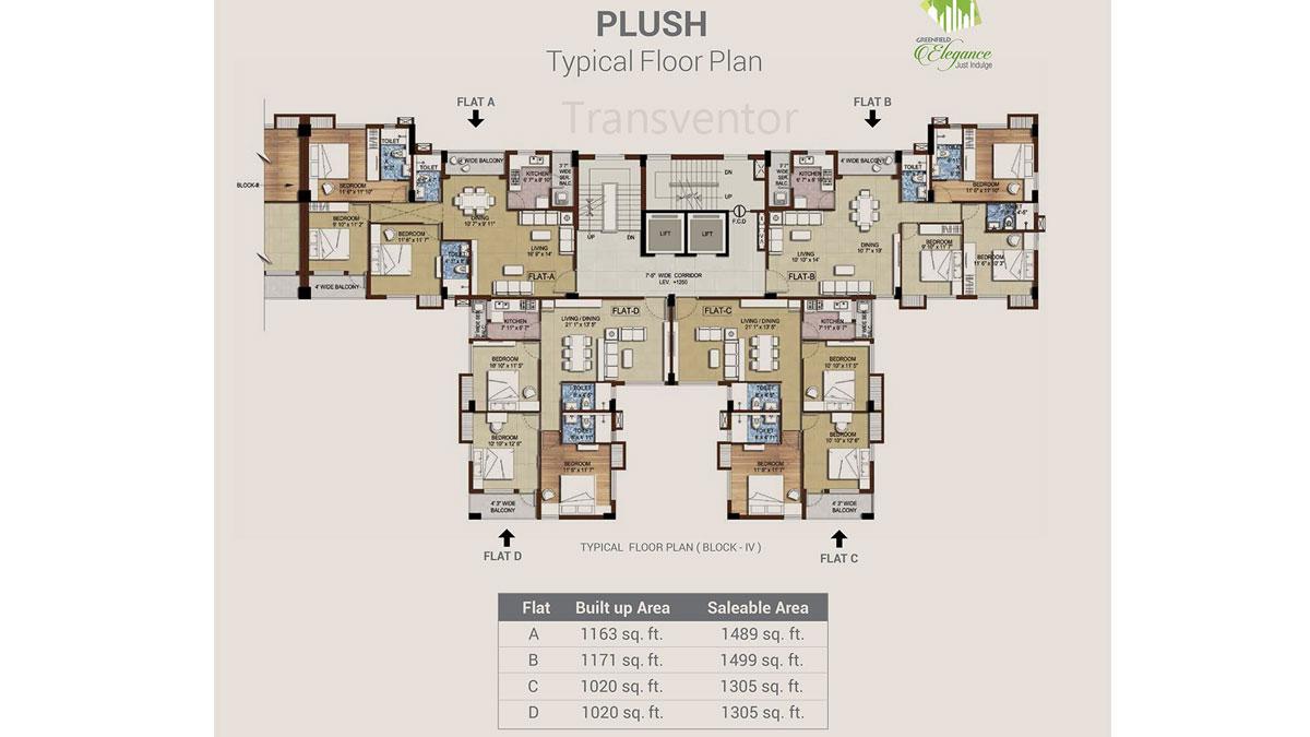 Bengal Greenfield Elegance Floor Plan 4