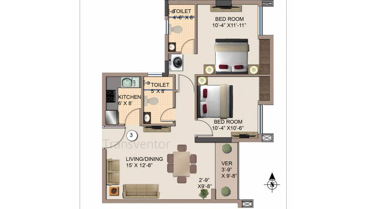 Kshetrum Aspire Floor Plan 3
