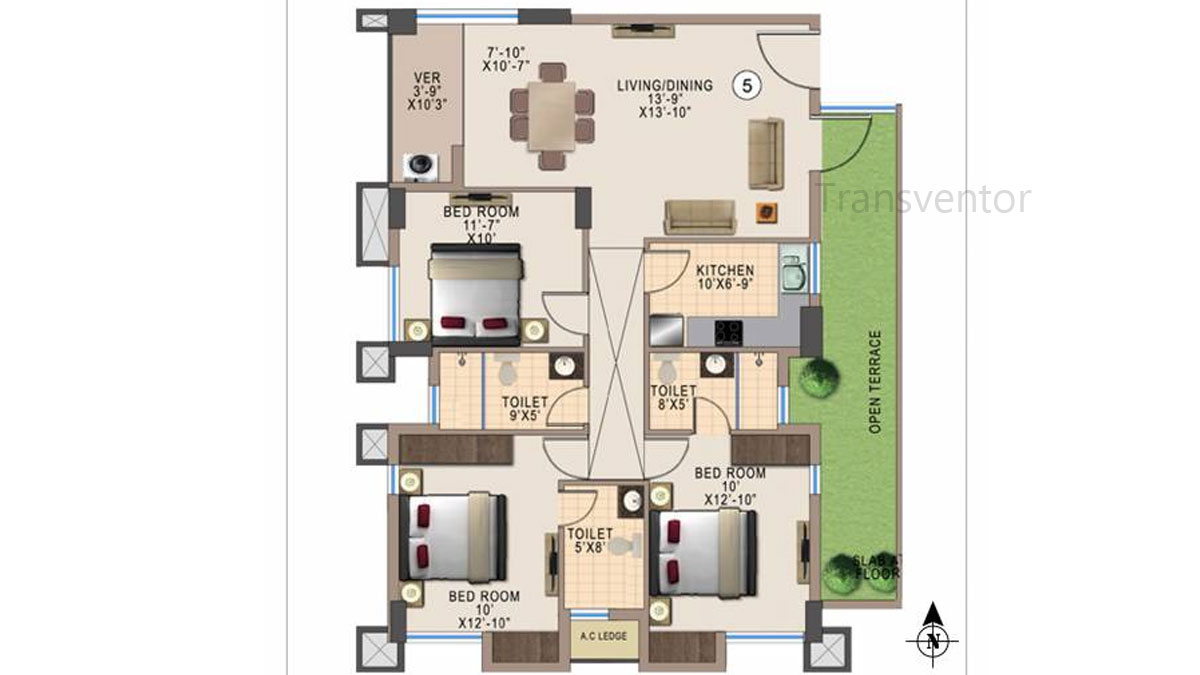 Kshetrum Aspire Floor Plan 7